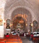 San Andres De Hio Church, nave, 12th century, Romanesque, Hio, Galicia, Spain