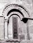 San Martin de Sobran, capital of engaged column on the apse, c. 1100. Romanesque, Villajuan, Salnes area of Pontevedra Province, Galicia, Spain