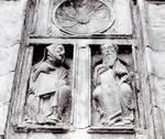 Santiago de Compostela, Master Mateo, detail of sculptures flanking the Puerta Santa