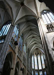 Cologne (Koln) Cathedral of St. Peter and St. Mary, view of crossing and choir vaults, High Gothic, Cologne, Germany