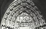 Leon Cathedral, Church of Santa Maria, Leon, Spain, Death of the Virgin, right (south) tympanum