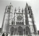 Leon Cathedral, Church of Santa Maria, Leon, Spain, west facade