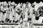 Leon Cathedral, Church of Santa Maria, Leon, Spain, detail of the central tympanum