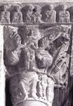 Porqueras, Santa Maria, 12th century, Romanesque architecture/sculpture, Spain.