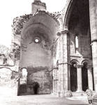 Moreruela, interior of transept arm and part of the apse of the choir of the Cistercian Monastery of Santa Maria, begun 1168, Zamora, Romanesque and Early Gothic architecture, Spain