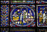 Canterbury Cathedral, Second Typological Window, North Choir Aisle, n. XV Gothic stained glass, late 12th century, England.
