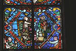 Angers Cathedral, St. Maurice, St. Martin Windows, Choir, east end, 13th century, Gothic stained glass, France.