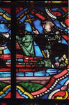 Angers Cathedral, St. Maurice, St. Thomas Becket Window, Choir, east end, 13th century, Gothic stained glass, France.