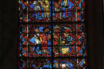 Angers Cathedral, St. Maurice, Tree of Jesse and Lawrence of Rome Windows, Choir, east end, 13th century, Gothic stained glass, France.