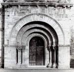 Porqueras, Santa Maria, 12th century, Romanesque architecture, Spain.