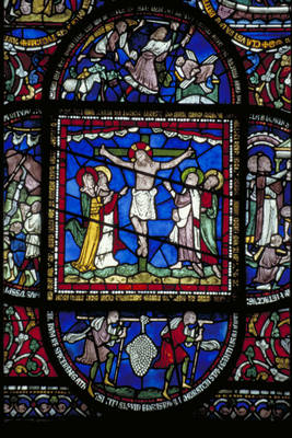 """Canterbury Cathedral, detail of Redemption Window, Corona ... 