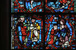 Angers Cathedral, St. Maurice, Passion and Infancy Windows, 13th century, Gothic stained glass, France. by Stuart Henry Rosenberg