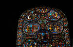 Sens Cathedral, St. Etienne (St. Stephen), north transept, Window I, Saint Thomas Becket Window, 13th century,  Gothic stained glass, France.