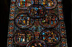 Sens Cathedral, St. Etienne (St. Stephen), north transept, Window I, Saint Thomas Becket Window, late 12th/early 13th century,  Gothic stained glass, France.