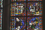 Angers Cathedral, St. Maurice, St. Julian of Le Mans Windows, Choir, east end, 13th century, Gothic stained glass, France.