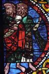 Angers Cathedral, St. Maurice, John the Baptist Window, Choir, south wall, 13th century, Gothic stained glass, France.