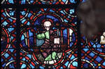Rouen Cathedral, Good Samaritan Window (detail of apex), Christ enthroned