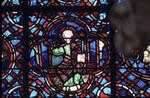 Rouen Cathedral, Good Samaritan Window (detail of apex), Christ enthroned