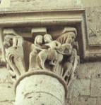 Colegiata de Toro, interior nave capital, Late 12th-early 13th century, Romanesque sculpture, Spain