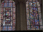 Angers Cathedral, St. Maurice, Virgin and Child, Windows, Nave, north wall, first bay, 13th century, Gothic stained glass, France.