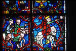 Angers Cathedral, St. Maurice, Passion and Infancy Windows, 13th century, Gothic stained glass, France.