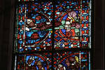 Angers Cathedral, St. Maurice, St. Julian (Julien) of Le Mans Windows, Choir, east end, 13th century, Gothic stained glass, France.
