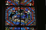 Angers Cathedral, St. Maurice, Saint Martin Windows, Choir, east end, 13th century, Gothic stained glass, France.