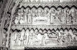 Toledo Cathedral, tympanum of the Door of the Clock (detail)