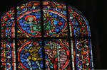 Angers Cathedral, St. Maurice, John the Baptist Window, Choir, south wall, 13th century, Gothic stained glass, France. by Stuart Henry Rosenberg