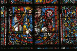 Angers Cathedral, St. Maurice, St. Catherine of Alexandria Window, Nave, north wall, second bay, 12th century, Gothic stained glass, France. by Stuart Henry Rosenberg