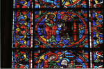 Angers Cathedral, St. Maurice, St. Peter Window, Choir, north wall, 13th century, Gothic stained glass, France.
