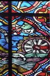 Angers Cathedral, St. Maurice, St. Thomas Becket Window, Choir, east end, 13th century, Gothic stained glass, France