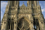 Reims Cathedral, upper west facade, 13th century, High Gothic architecture, sculpture, stained glass, France