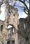 Jumieges Abbey, transept, Anglo-Norman Romanesque and Gothic