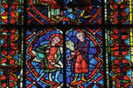 Angers Cathedral, St. Maurice, St. Eloy (Eloi) Window, Choir, north wall, 13th century, Gothic stained glass, France.