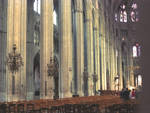 Bourges Cathedral, nave, aisle interior