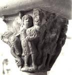 San Juan de la Pena (St. John of the Rock), Cain and Abel bring forward their sacrifices, capital from the cloister