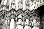 Chartres Cathedral, heads of Kings and Queens, Royal Portal (Christ's ancestors?), west facade, central portal, north side jamb figures