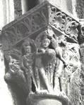 San Juan de la Pena (St. John of the Rock), Labors of Adam and Eve, capital from the cloister