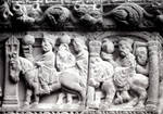 Arles, Church of St. Trophime, Capital frieze, west facade, the Three Magi bearing gifts
