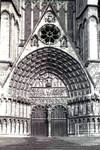 Bourges Cathedral, west facade, central portal, Last Judgment