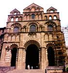Le Puy-en-Velay, Cathedral of Notre Dame, west facade