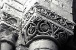 St. Benoit sur Loire, capitals with vine scrolls, from colonnade, west front