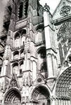 Bourges Cathedral, west facade, north tower