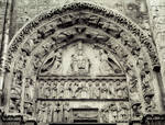 Chartres Cathedral,  Royal Portal, west facade, south portal, tympanum, Marian cycle
