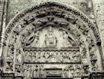 Chartres Cathedral,  Royal Portal, west facade, south portal, tympanum, Marian cycle