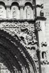 Sangueza, Church of Santa Maria la Real, south portal, jumble of sculptures, real and fantastic animals