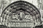 Chartres Cathedral, Royal Portal, central portal, Tympanum, Christ in Majesty with Four Evangelist Symbols