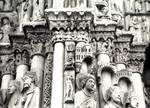 Chartres Cathedral, heads of Kings and Queens, Royal Portal (Christ's ancestors?), west facade, south portal, north side jamb figures