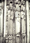 Chartres Cathedral, Kings and Queens, Royal Portal (Christ's ancestors?), west facade, south portal, north side jamb figures